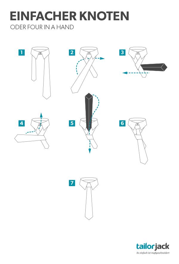 Einfacher Krawatten Knoten