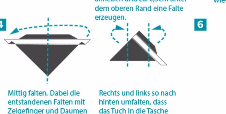 Berühmt Falttechniken für Einstecktücher AX41