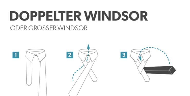 einfacher windsor knoten anleitung zum binden. Black Bedroom Furniture Sets. Home Design Ideas