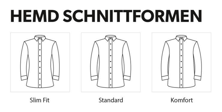 Passform und Schnitt für Ihr Maßhemd