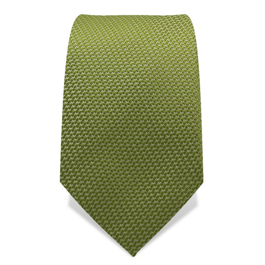 Krawatte 7,5 cm Uni, feines Webmuster, Hellgrün