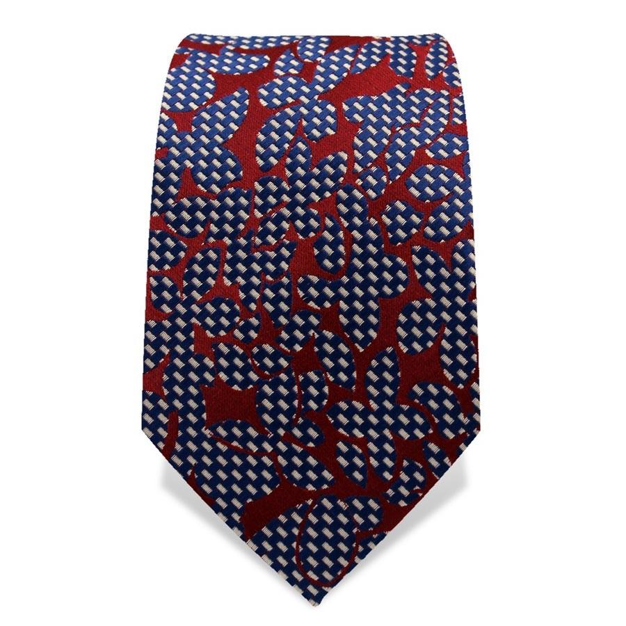 Krawatte 7,5 cm Artist Muster, Blau / Weiß / Rot