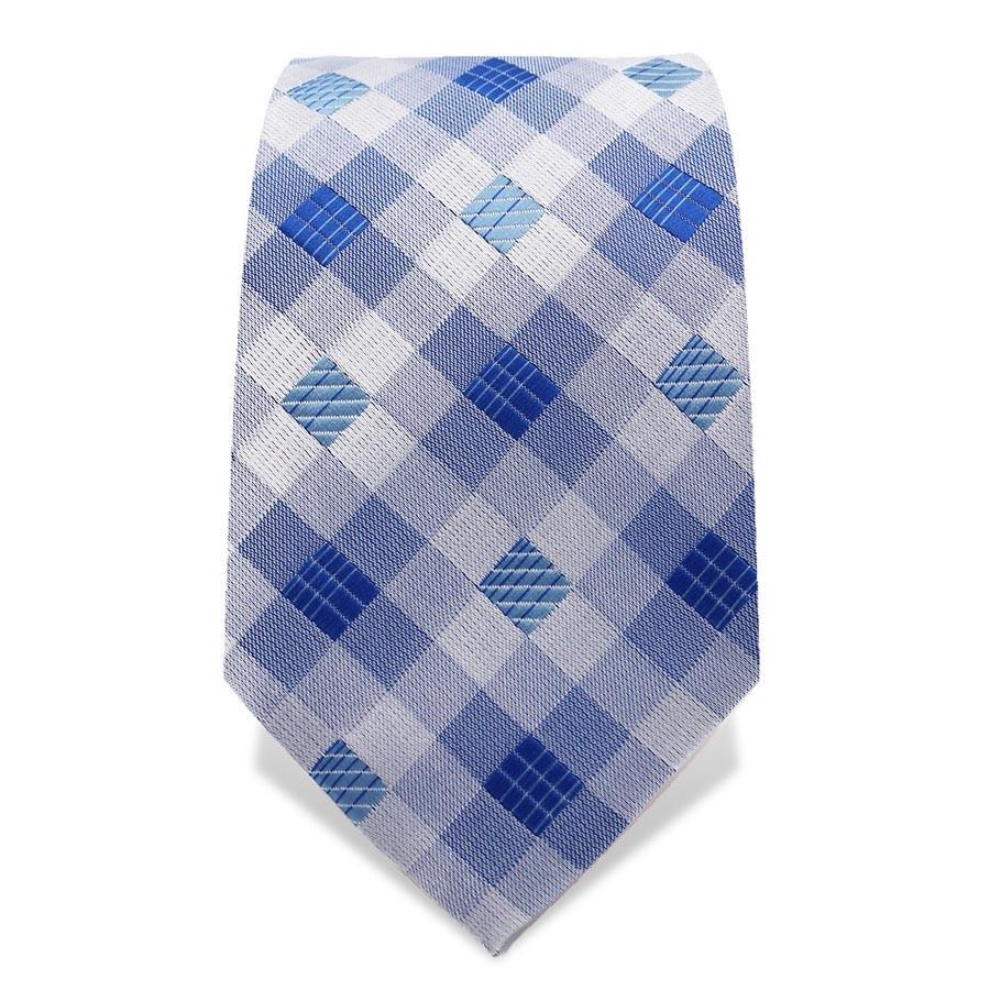 Krawatte 7,5 cm Artist Muster Karo, Blau / Weiß