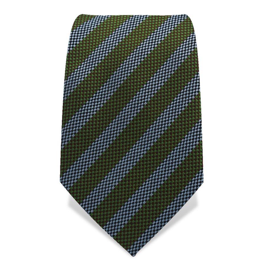 Krawatte 7,5 cm Gewebte Streifen, Grün / Hellblau / Schwarz