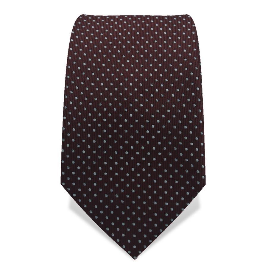 Krawatte 7,5 cm Kleine Punkte, Braun / Hellblau