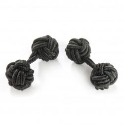 Seidenmanschettenknoten schwarz