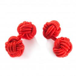 Seidenmanschettenknoten rot