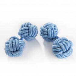 Seidenmanschettenknoten hellblau