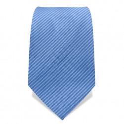 Krawatte 8,5 cm Uni, Feine gewebte Streifen, Hellblau
