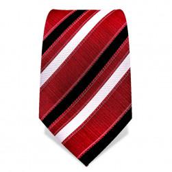 Krawatte 8,5 cm Streifen, Rot / Schwarz / Weiß
