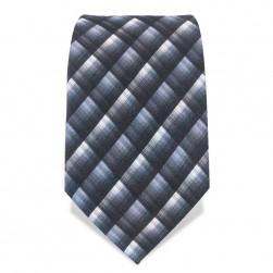 Krawatte 8,5 cm Artist Muster, Grau / Weiß / Hellblau