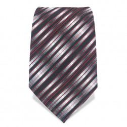 Krawatte 8,5 cm Artist Stripes, Schwarz / Weiß / Rot