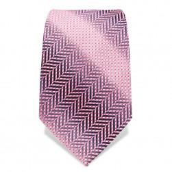 "Krawatte 8,5 cm ""Pink Panther"", Rosa Herringbone"