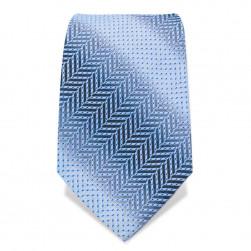 """Krawatte 8,5 cm """"Blue Steel"""", Blau Herringbone"""
