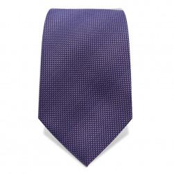 Krawatte 8,5 cm Feines Webmuster, leichte Streifen, Violett
