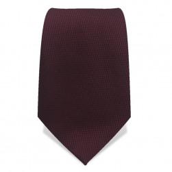 Krawatte 8,5 cm Feines Webmuster, Dunkel Rubin Rot