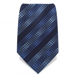 """Krawatte 8,5 cm """"Artist"""" Punkte & Streifen, Blautöne"""