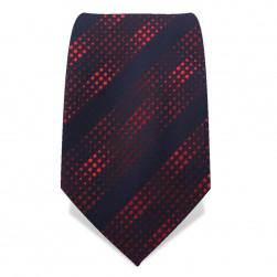 """Krawatte 8,5 cm """"Artist"""" Punkte & Streifen, Schwarz / Rot"""