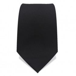Krawatte 8,5 cm Feines Webmuster, Schwarz