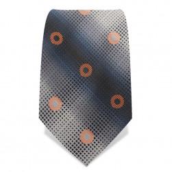 "Krawatte 8,5 cm ""Artist-Dots"", Creme / Schwarz / Orange"