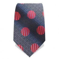 """Krawatte 8,5 cm """"Fun-Dots"""", Schwarz / Grau / Rot"""