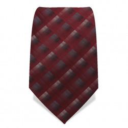 Krawatte 8,5 cm Artist-Karo, Rubin-Rot / Grau / Weiß