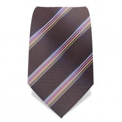 Krawatte 8,5 cm Fischgrät & Pastell-Streifen, Blau / Rosa / Gelb / Gold