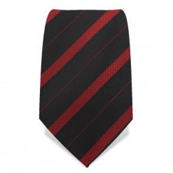 Krawatte 8,5 cm Rot-Schwarz-Streifen, Schwarz / Rot