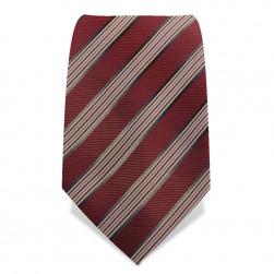 Krawatte 8,5 cm Klassischer Streifen, Rot-Braun / Braun / Rosa