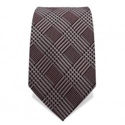 Krawatte 8,5 cm Klassisches Hahnentritt Karo, Schwarz / Hellgrauweiß