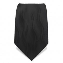 Krawatte 8,5 cm Schwarze Wellen, Schwarz