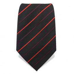 Krawatte 8,5 cm 'Modernist' Streifen, Schwarz / Orange