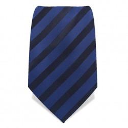 Krawatte 8,5 cm Klassischer Streifen, Dunkelblau / Schwarz