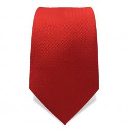 Krawatte 7,5 cm Uni Rot