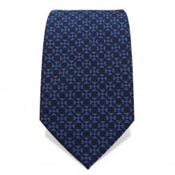 Krawatte 7,5 cm Klassisches gewebtes Muster, Blau / Dunkelblau