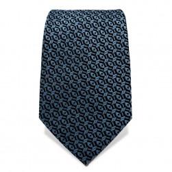 Krawatte 7,5 cm Klassisches Muster, Nachtblau / Hellblau