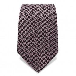 Krawatte 7,5 cm Klassisches Muster, Schwarz / Altrosa