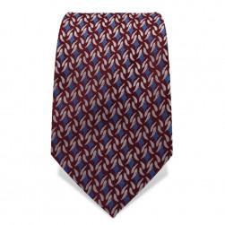 Krawatte 7,5 cm Feines klassisches Muster, Rot-Braun / Blau / Weiß