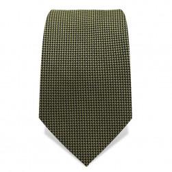 Krawatte 7,5 cm Feines Webmuster, Hellgrün / Schwarz