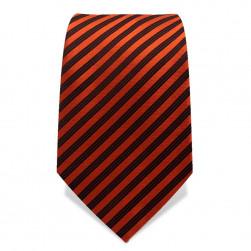Krawatte 7,5 cm Schmale Streifen, Orange / Schwarz