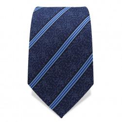 Krawatte 7,5 cm Klassischer Streifen, raffiniert kombinert, Blautöne