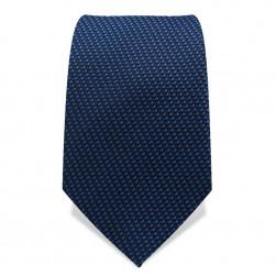Krawatte 7,5 cm Webmuster Punkte, Blau / Blau