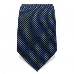 Krawatte 7,5 cm Webmuster, Schwarz / Blau / Weiß