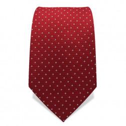 Krawatte 7,5 cm Kleine Punkte, Rot / Weiß