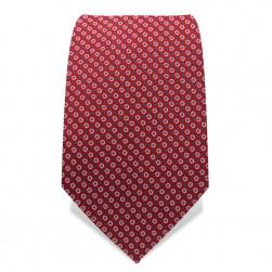 Krawatte 7,5 cm Feines Muster, Rot / Weiß / Hellblau