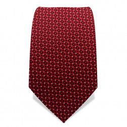 Krawatte 7,5 cm Feines Muster, Rot / Schwarz / Weiß