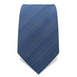 Krawatte 7,5 cm Unregelmäßige Streifen, Hellblau / Weiß
