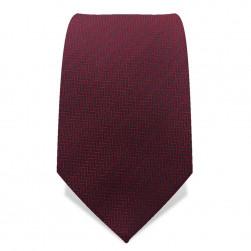 Krawatte 7,5 cm Kleines Fischgrät, Rot / Schwarz