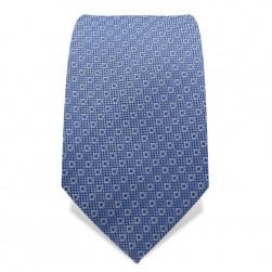 Krawatte 7,5 cm Uni Feines Webmuster, Stahlblau/Hell