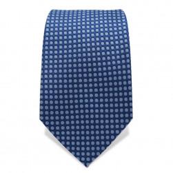 Krawatte 7,5 cm Gewebtes Muster, Punkte, Blau / Hellblau